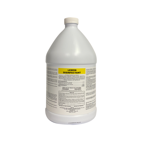 Lemon Disinfectant: 4-1 Gallons