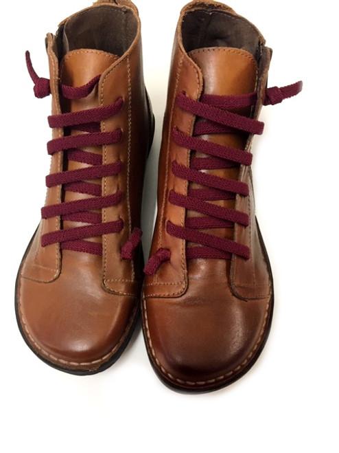 Elastic lace Boots - Tan