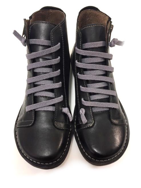 Elastic lace Boots - Black