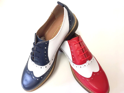 BLue/White Brogue