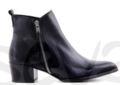 Amelie leather boots - Black