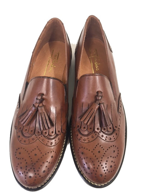 Tassel Leather Shoes - Tan
