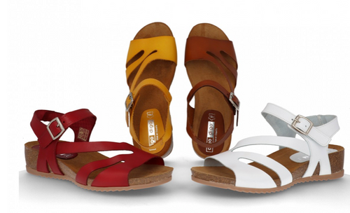Lulu Leather Sandals - Red