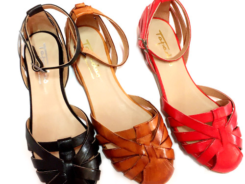 Closed Toe Sandals - Red