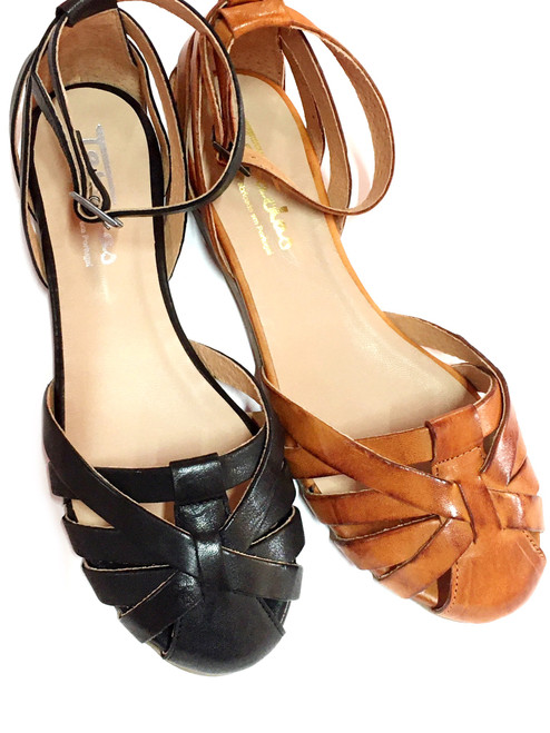Closed Toe Sandals - Black