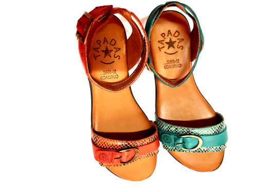 Belle Sandals - Turquoise