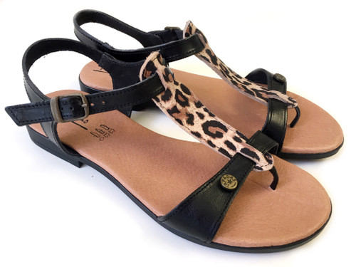 Tiger Thong Sandals - Black