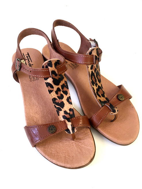 Tiger Thong Sandals - Tan