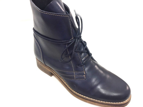 Corkville Leather Boots - Navy Blue