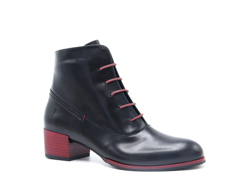 Canela Leather Boots - Black