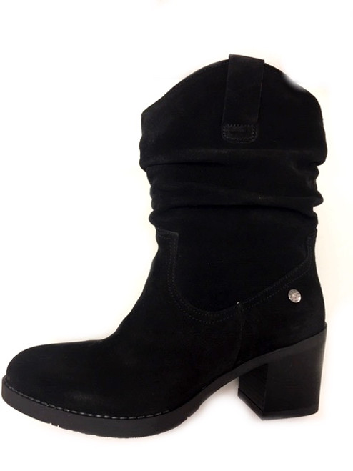 Mid Calf Black Boots