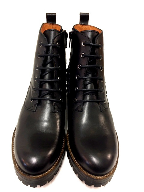 Charlotte Leather Boots - Black