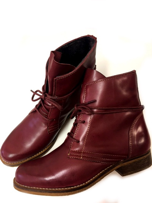 Corkville Leather Boots - Bordeaux