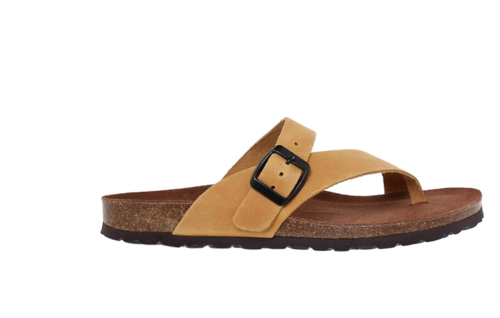 Yellow - leather flip flop