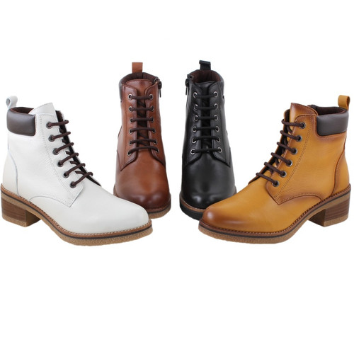 Amelie Tan Leather Boots