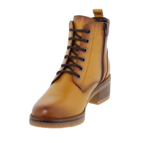 Amelie  Mustard Leather Boots