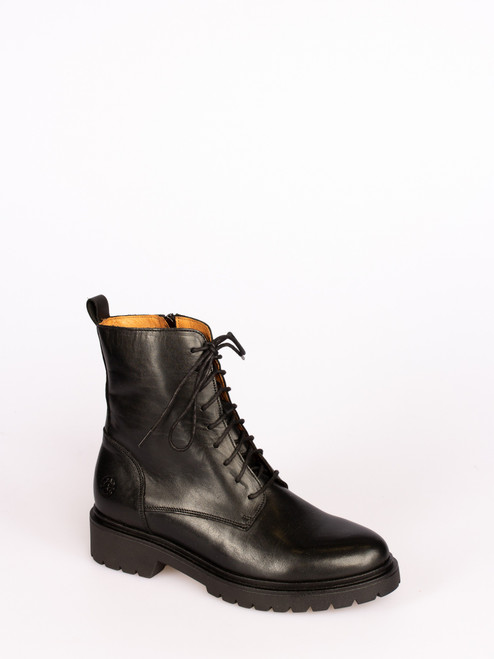 Black London leather boots