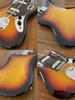Fender Jaguar, '66, 3 Tone Sunburst, 2002, Alder Body