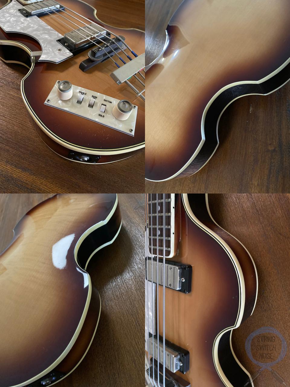 Greco Violin Bass, LEFT HAND, Sunburst, 1982, Paul McCartney, OHSC