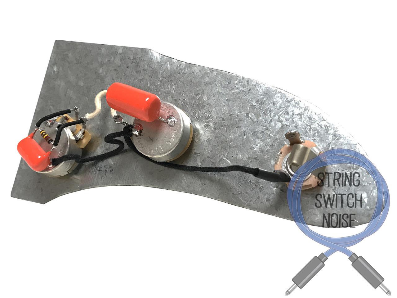 (Fender) Jazzmaster Wiring Harness, Treble Bleed, Upgrade