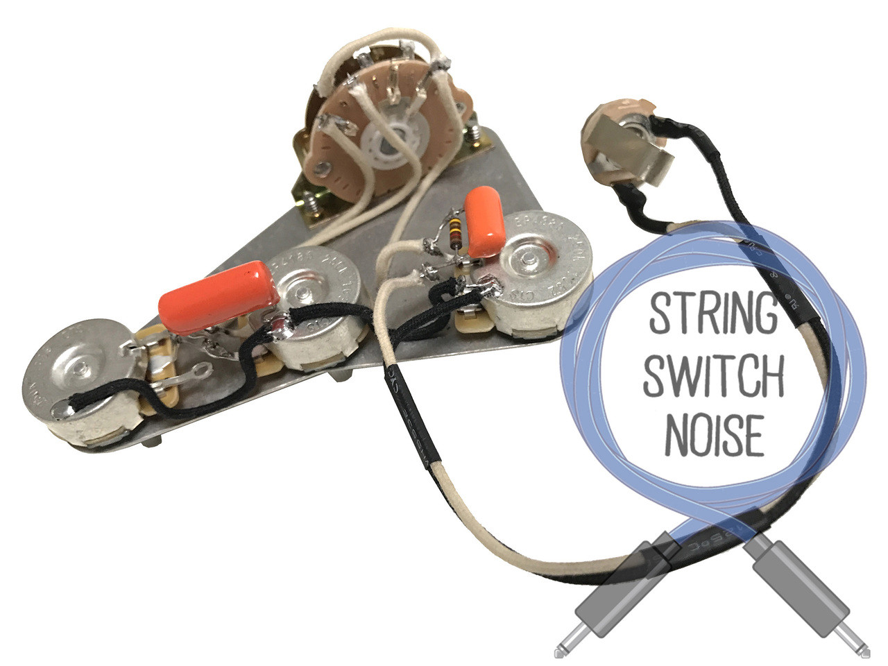 Left Hand Wiring Harness Upgrade For Fender Stratocaster CTS Orange Drop