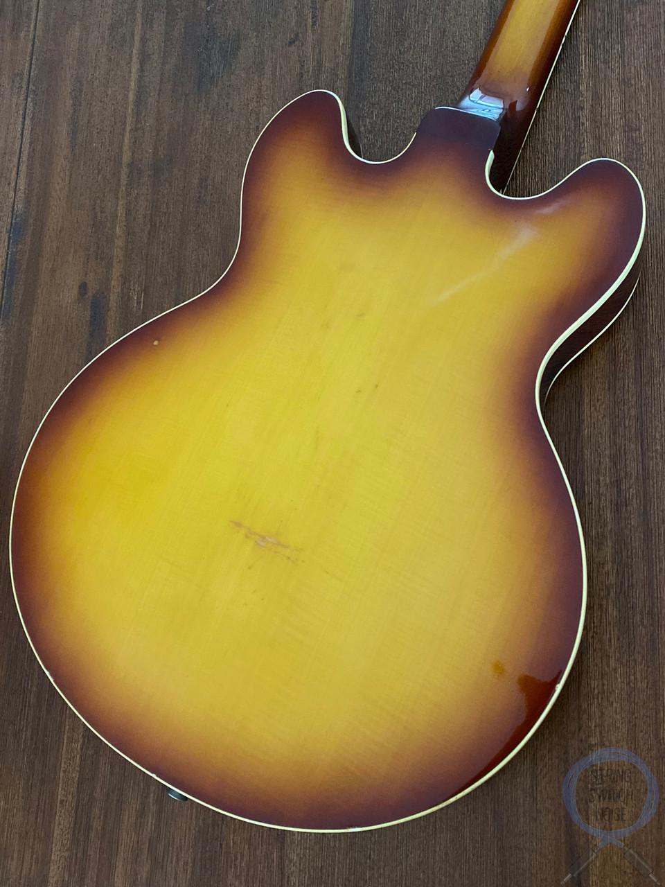 "Greco ""339"", Vintage 1974, Full Hollow Body, Honey Burst, Hard Shell Case"