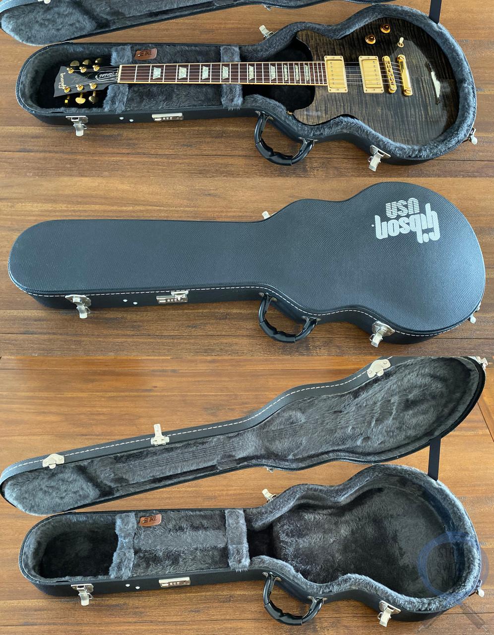 Gibson Les Paul, Standard, Double Cut, Tran Black, USA, 2002, OHSC