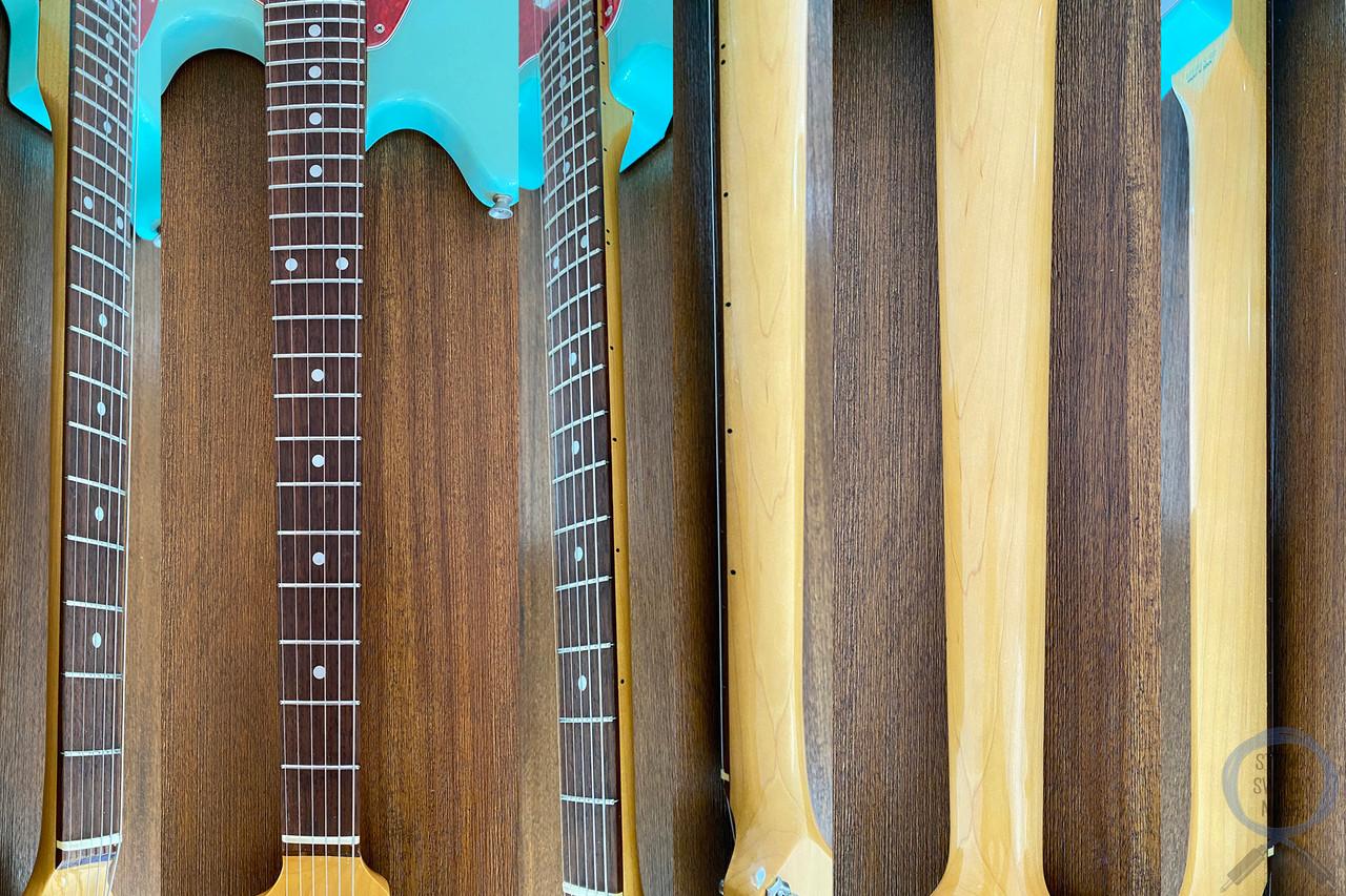 "Fender Mustang, '69, Sonic Blue (Aged), 1993, ""Sky-Stang"" Looks"