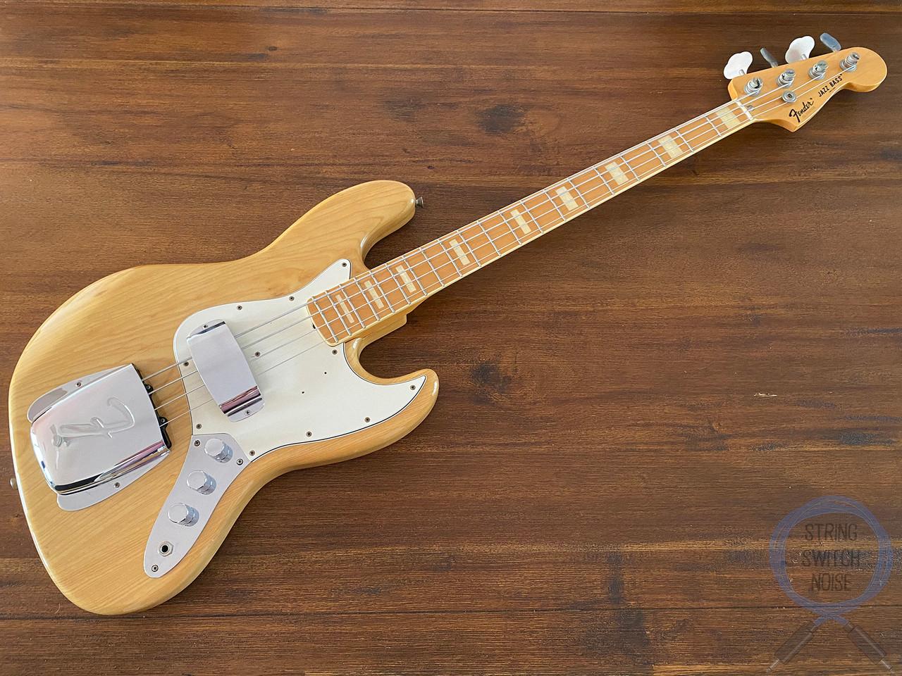 Fender Jazz Bass, '75, Natural Ashwood, 1997, USA Pickups, Hard Case