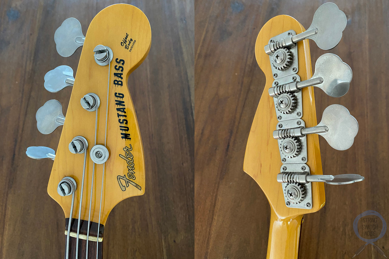 Fender Mustang Bass, Vintage White, Short Scale Bass, 2005
