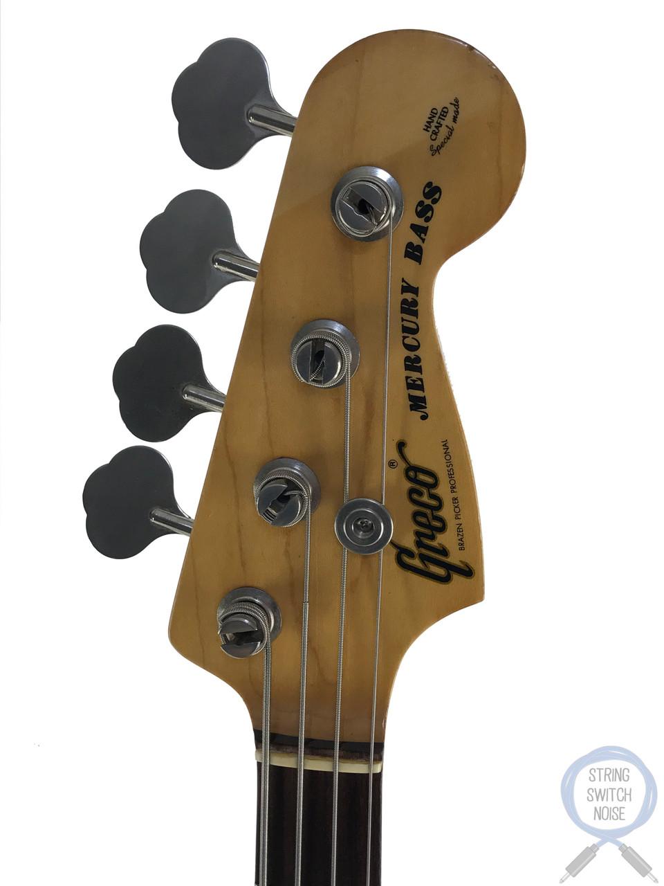 Greco Precision Bass, 1978 Vintage, Black Guard, Vintage White
