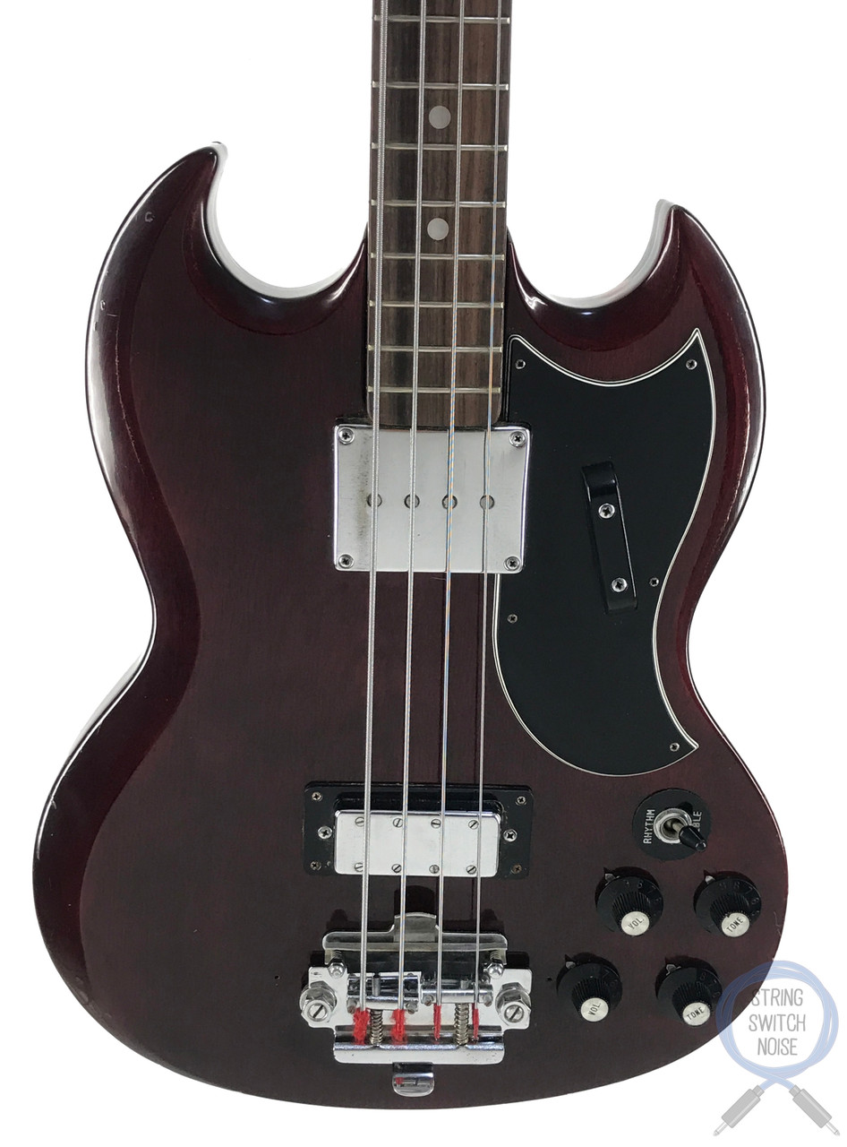 Greco SG Bass, EB-3 Style, Cherry Red, Vintage 1972