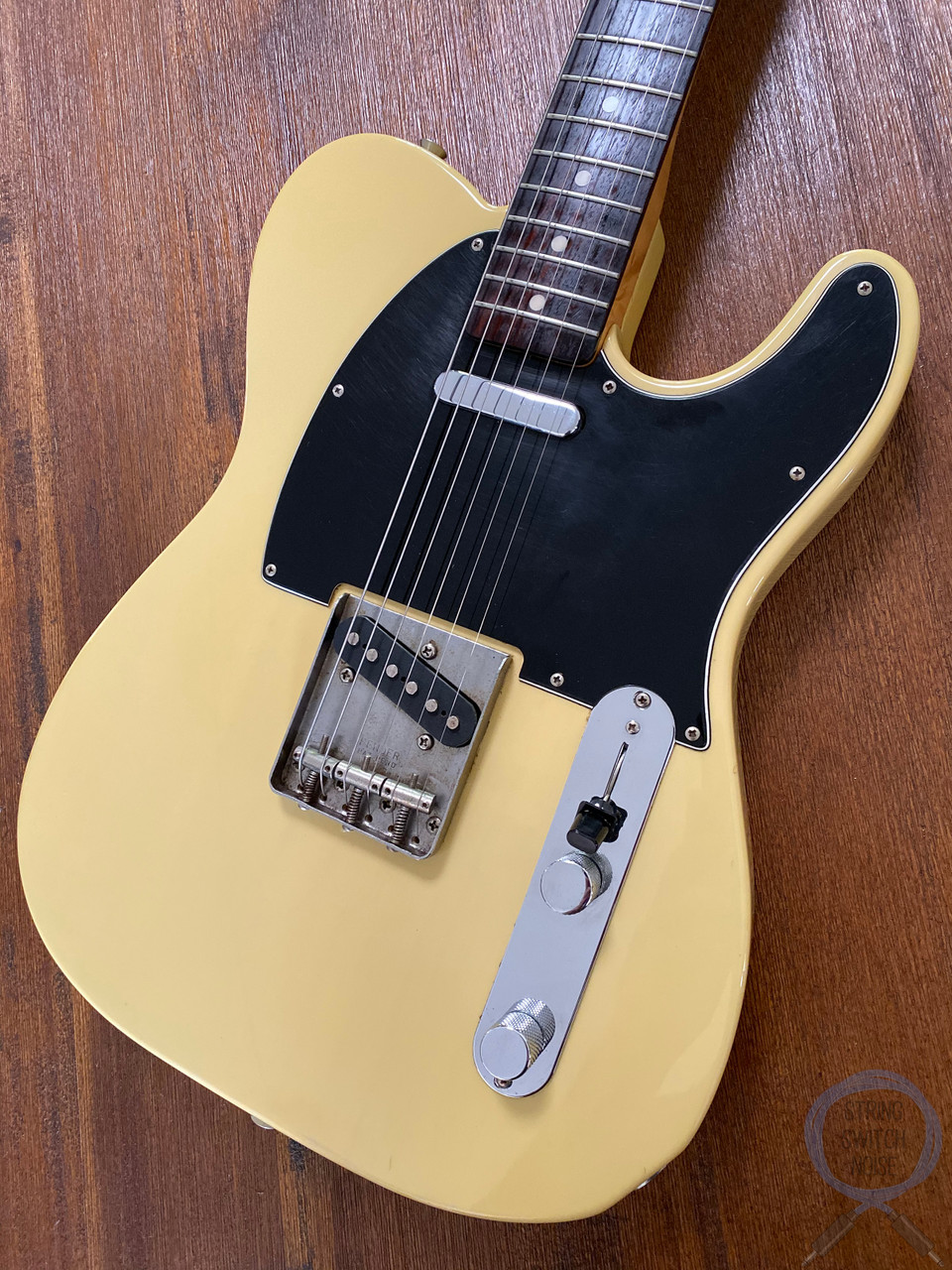 Fender Telecaster, '72, Blonde and Black Guard, 1997