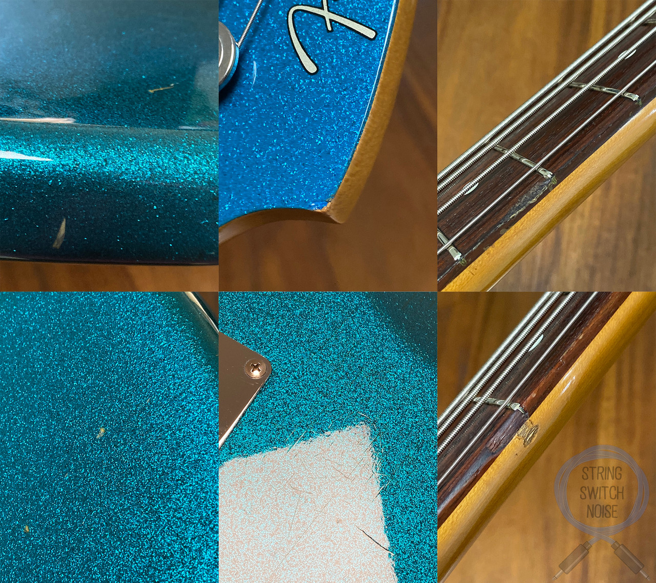 Fender Precision Bass, '62, RARE CUSTOM EDITION, Blue Sparkle, 1991