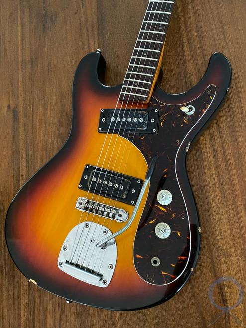 Guyatone, LG-127-T, 1960s, Mosrite/Hi-Flyer style Guitar, Sunburst