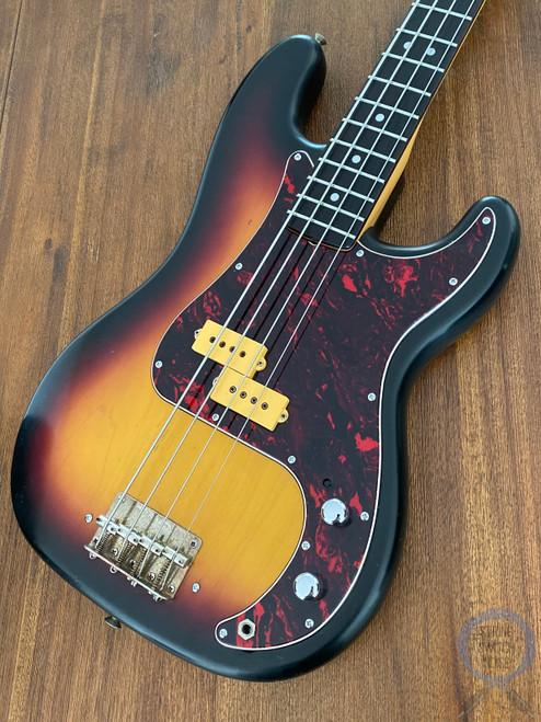 Aria Pro II, Precision Bass,1980, Dimarzio Pickup, 3 Tone Sunburst, Alder