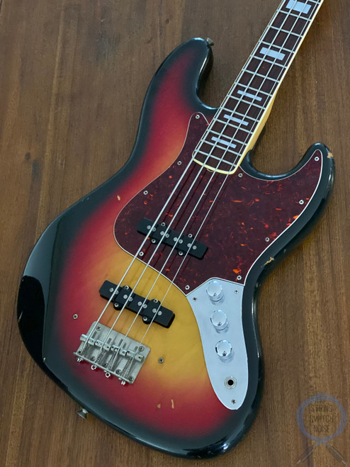 Greco Jazz Bass, 3 Tone Sunburst, 1976 vintage, MIJ