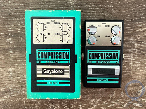 Guyatone PS-010, Compression Sustainer, MIJ, 1980s, Original Boxing, Vintage Guitar Effect Pedal