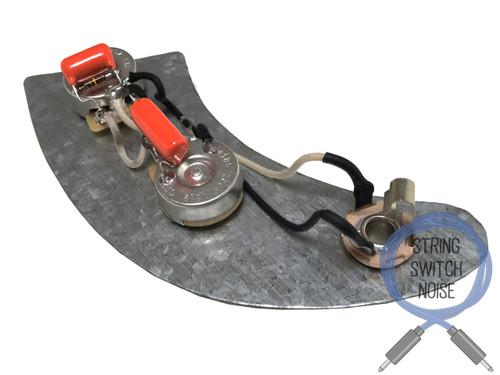 (Fender) Precision Bass Wiring Harness, Treble Bleed, No Load Tone, Upgrade