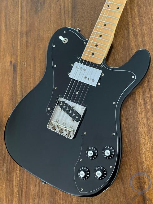 Fender Telecaster Custom, '72, Black on Black, 2004, Ash Body