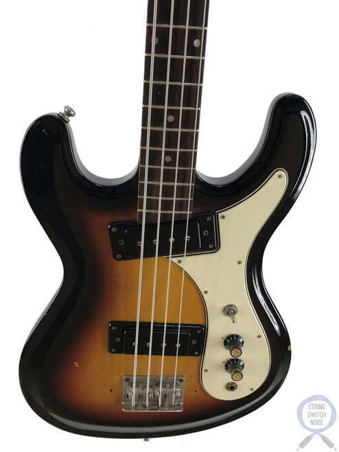 Aria, Mosrite/Hi-Flyer Bass, Sunburst, Short Scale, 1968, Vintage