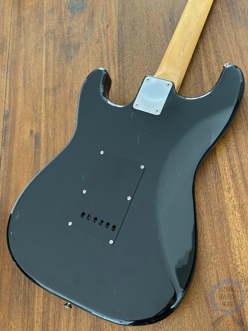 Fender Stratocaster, BOXER, HSS, Black on Black, 1984