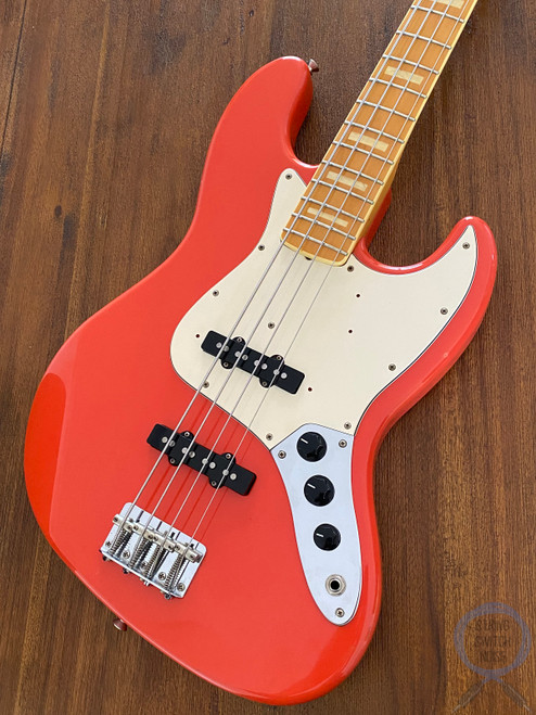 Fender Jazz Bass, '75, RARE Fiesta Red, 1997, USA pickups, Ashwood