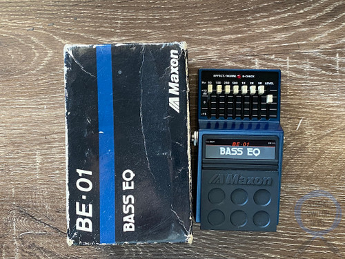 Maxon BE-01, Bass EQ, 8 Band, Made In Japan, 1980s Original Boxing, Vintage