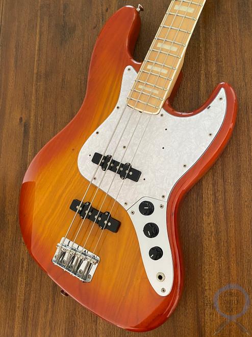 Fender Jazz Bass, '75-US, Light Amber Sunburst, 2004, RARE COLOUR/MODEL
