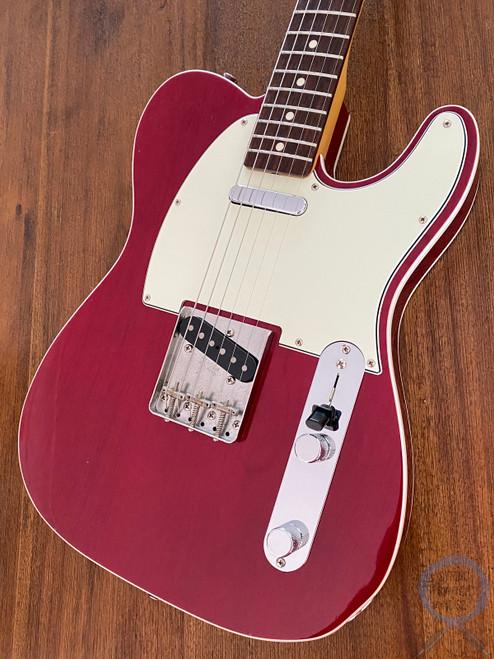 Fender Telecaster, '62, Custom Bound, Transparent Cherry Red, 2014