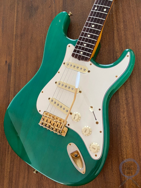 Fender Stratocaster, '62 GOLD, Charcoal Green, 1994, Rare to Find