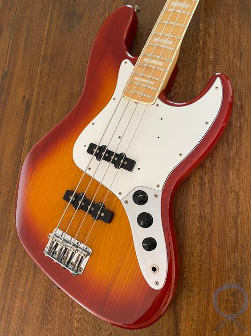 Fender Jazz Bass, '75-US, Light Amber Sunburst, 2008, RARE COLOUR/MODEL