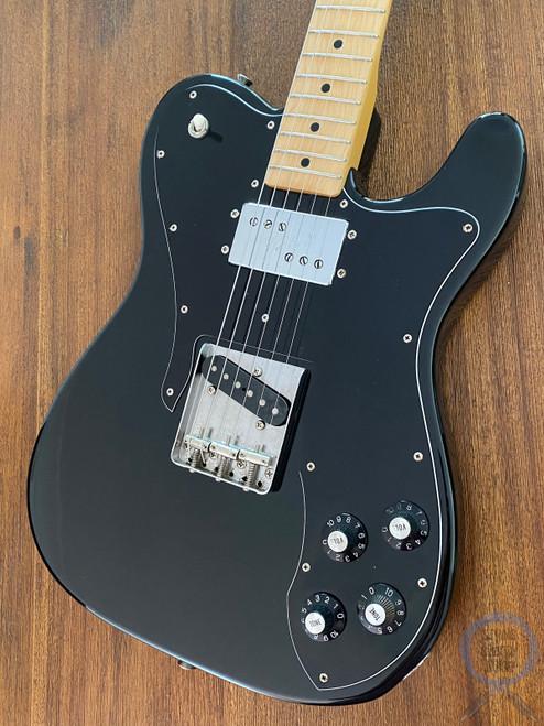 Fender Telecaster Custom, '72, Black on Black, 1999, Ash Body