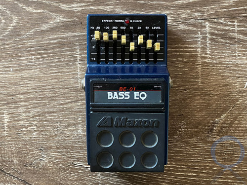 Maxon BE-01, Bass EQ, 8 Band, Made In Japan, 1980s (125282) Bass Effect Pedal